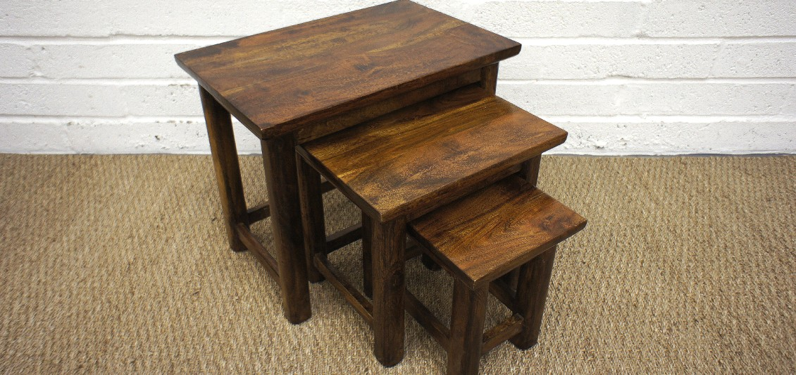 Kanpur nest of tables the rug and furniture company for Furniture northampton