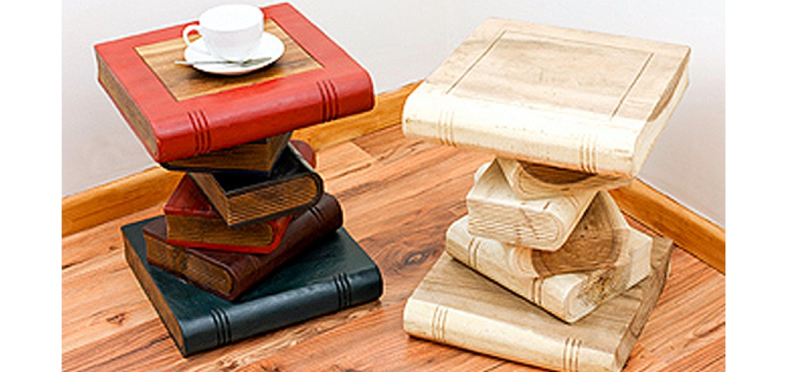 Hand Crafted Book Stack Tables