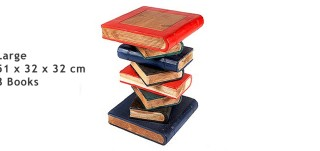 Large Hand Crafted Book Stack Table