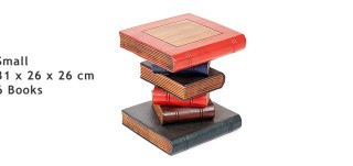 Small Hand Crafted Book Stack Table