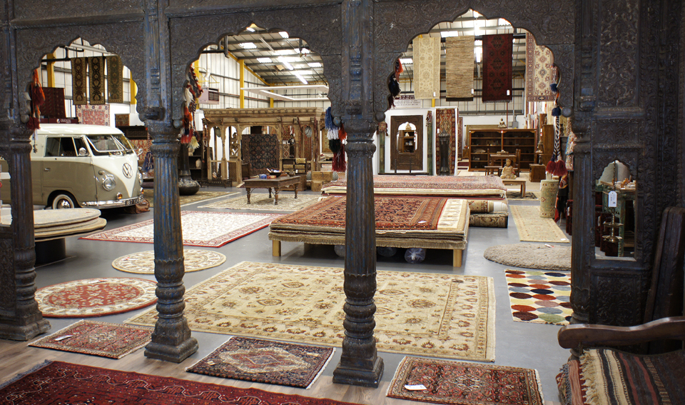 Fantastic Indian triple archway at the entrance to The Rug & Furniture Company UK